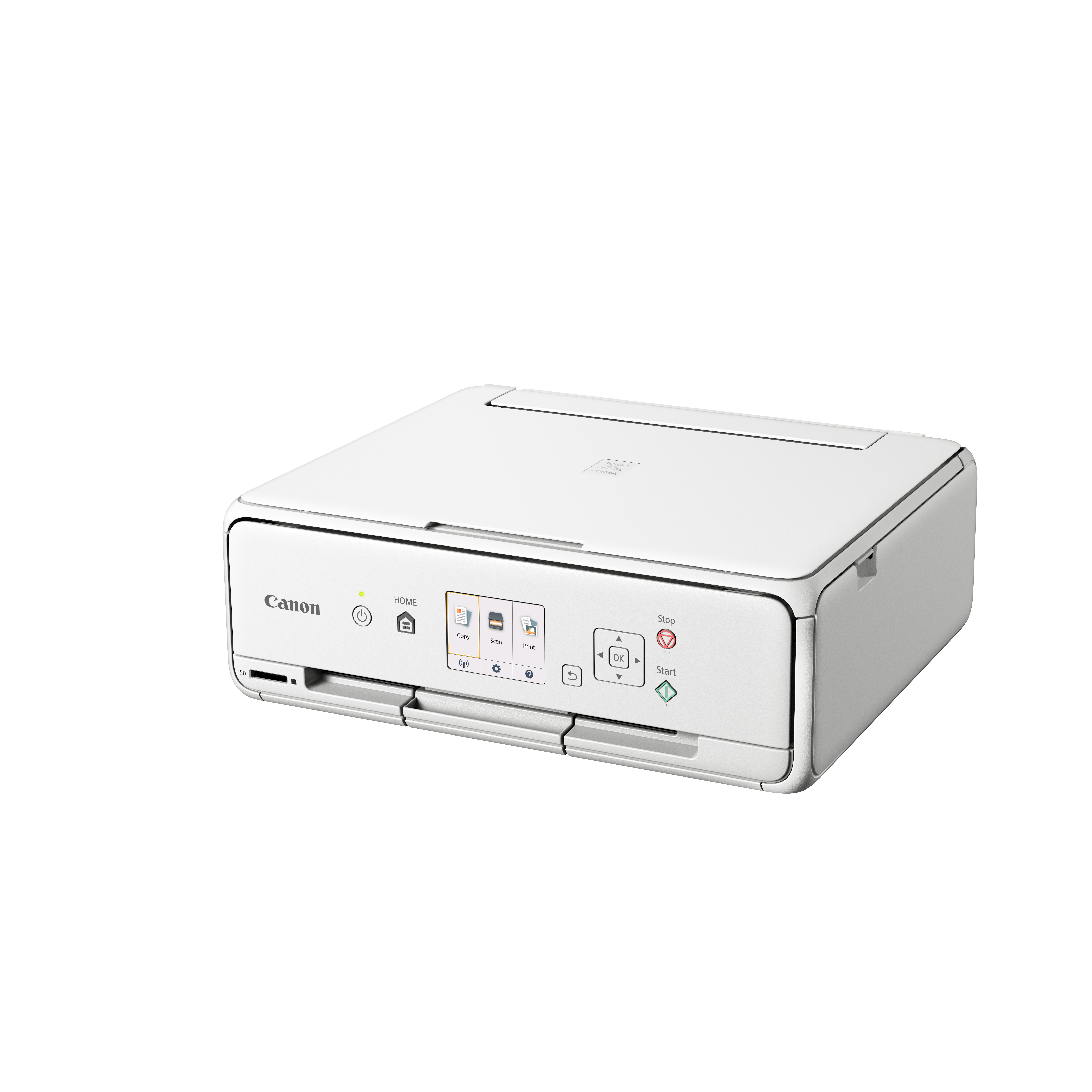 Canon-PIXMA-TS5051-Multifunktionsgeraet-Drucker-Scanner-Kopierer-weiss-5-Tinten Indexbild 3