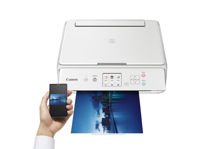 Canon-PIXMA-TS5051-Multifunktionsgeraet-Drucker-Scanner-Kopierer-weiss-5-Tinten Indexbild 5